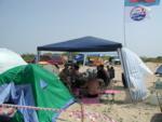 А над лагерем реет флаг - всем понятно кто здесь живет :-)