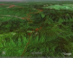 Грачевский перевал Та выглядит трек наложеный на снимок спутника